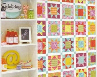 "SALE** Sodalicious Wall Hanging Pattern - 52"" x 62"" FQ Friendly"
