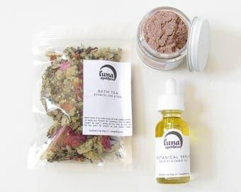 Floral Facial Spa Kit | Botanical Facial | Facial Steam | Floral Skincare | Botanical Facial Kit | All Natural Spa Kit | Vegan Facial Kit