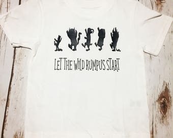 Where the Wild Things Are Birthday Shirt- Let the Wild Rumpus Start Toddler t-Shirt