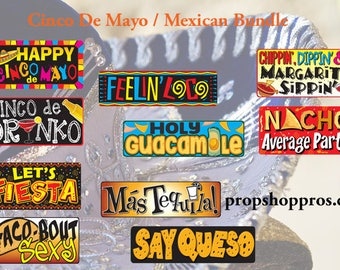 Cinco De Mayo Photo Booth Props | Mexican Bundle | Photo Booth Props