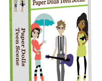 Cricut art cartridge Paper Dolls Teen Scene up to 700 images. Cartridge is new and not linked.