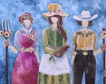Sisterhood of Prairie Love: Limited Edition Reproduction