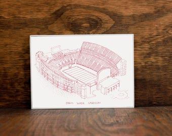 Davis Wade Stadium - Mississippi State Bulldogs - Football Art - Mississippi State Bulldogs Art - Mississippi State Bulldogs Print