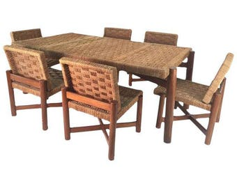 Woven Rattan Dining Chairs & Table