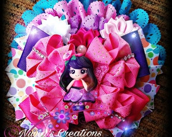 butterfly girl hair bow