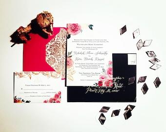 CUSTOM & HANDMADE invitations