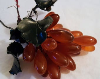 """Rare Chinese Qing Dynasty Chalcedony """"Hard Stone"""" Fruit Cluster"""
