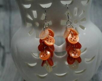 """Earrings """"Knopfvoll red orange"""""""