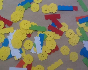 Confetti shapes lego red yellow blue green white