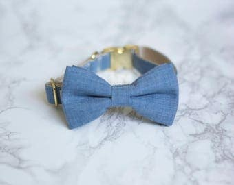 Bow Tie Collar | Chambray | Dog & Cat