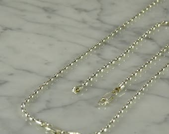 "Sterling Silver Beaded Necklace (15"") and Bracelet (8"")"