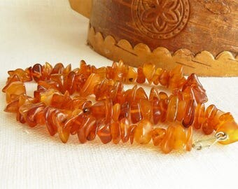 Baltic AMBER Necklace/ Natural Amber Beads 35 gr / Gift for Her/ Vintage Style Jewelry/ Latvia (01)