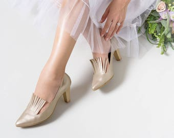 Gold heels, Wedding heels, High heels, Leather heels, Heels, Designer shoes, High heel shoes, Wedding shoes, Bridal Shoes