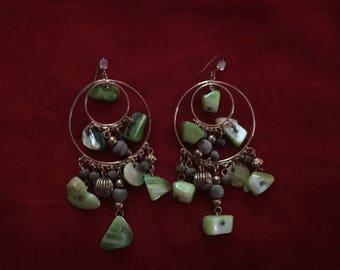Vintage Dangle Earrings 1970s