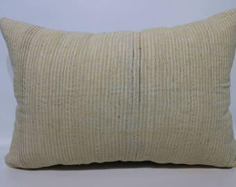 16x24 White Kilim Pillow Sofa Pillow Handwoven Kilim Pillow 16x24 Turkish Kilim Pillow Home Decor Ethnic Pillow SP4060-1068