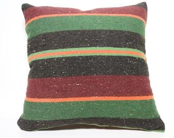 20x20 Home Decor Striped Pillow Large Floor Pillow Cushion Cover Large Size Kilim Pillow Boho Pillow Antique Pillow  SP5050-2418