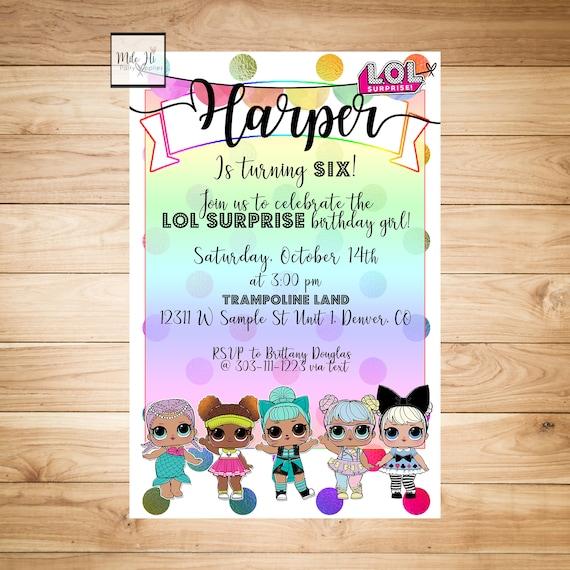suprise birthday party invitation