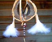 rustic Dream Catcher,grapevine dream catcher,handmade artisan dream catcher,natural dream catcher,double dream catcher,3D dream catcher