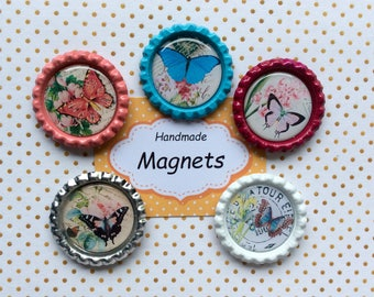 Noticeboard magnets, fridge magnets, magnets, Notice board magnets, Refrigerator magnets, Thank you gift, magnet, Butterflies gift, Magnetic