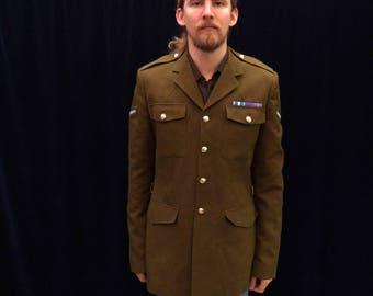 British Army Jacket Khaki • British Military Olive Green Men's Jacket • large xlarge