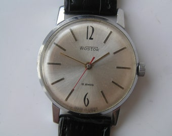 Russian Soviet Vintage Watch Ussr Vostok 18 jewels - SLIM - Serviced