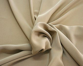 305009-Crepe marocaine Natural Silk 100%, width 130/140 cm, made in Italy, dry cleaning, weight 215 gr