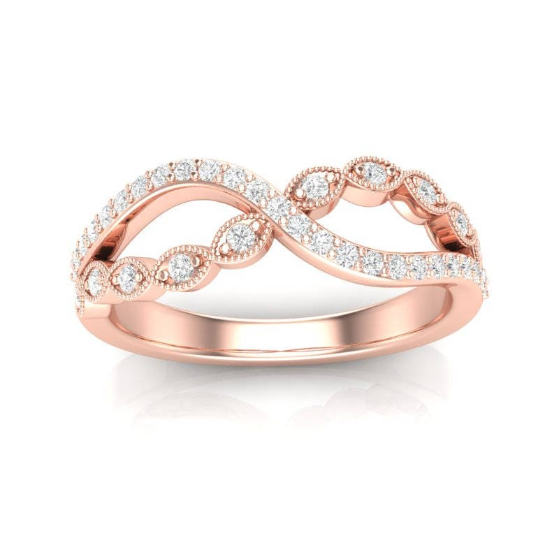 products diamond rose infinity band dainty jewelry gold mavrik