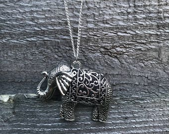 Boho style elephant necklace