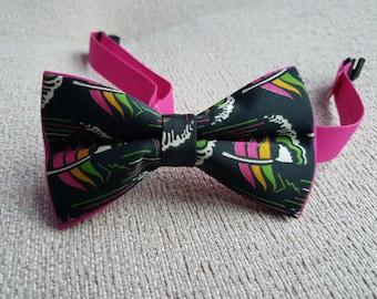 Black&pink bow tie
