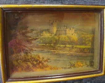 Vintage Castle Print in Shadowbox