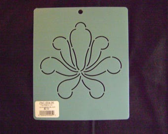 Sashiko Japanese Embroidery Stencil 5 in. Zion Design No.4 Block Motif Block/Quilting