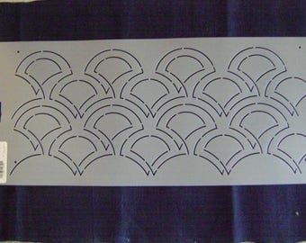 Sashiko Japanese Quilting/Embroidery Stencil 3.75 in. Geisha Overall Motif/Quilting