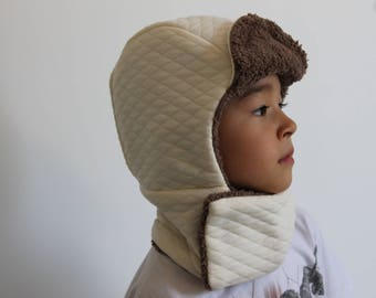 Snood and bonnet set for boy