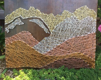 Colorado Mountain Range Wire String Art