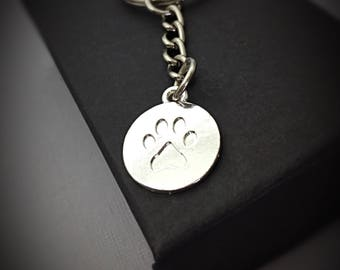 Paw Print Gifts, Keychain Gift Paw Charm, Print Paw Keychain, Keeper Sitter, Animal Lover Gift Keychain, Animal keychain gift, printed paw