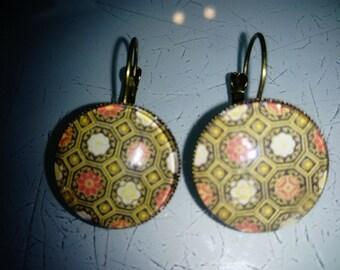 Earrings Bohemian ethnic pattern