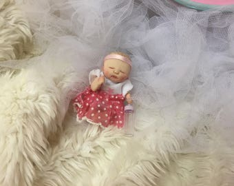 Gorgeous hand sculpted baby doll,Dollhouse,ooak,no moulds used,worldwide shipping!!