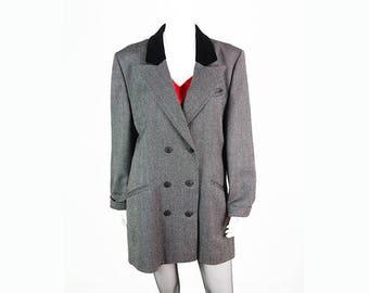 Vintage tweed coat from pure new wool