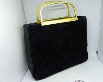 JANE SHILTON Vintage evening purse, sparkling black leather evening bag, Jane Shilton evening purse, black evening bag, purse, evening purse