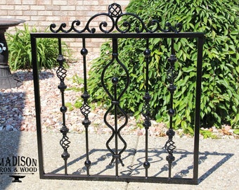 Wrought Iron Gate, Garden Fence Door, Whimsical Gate Style