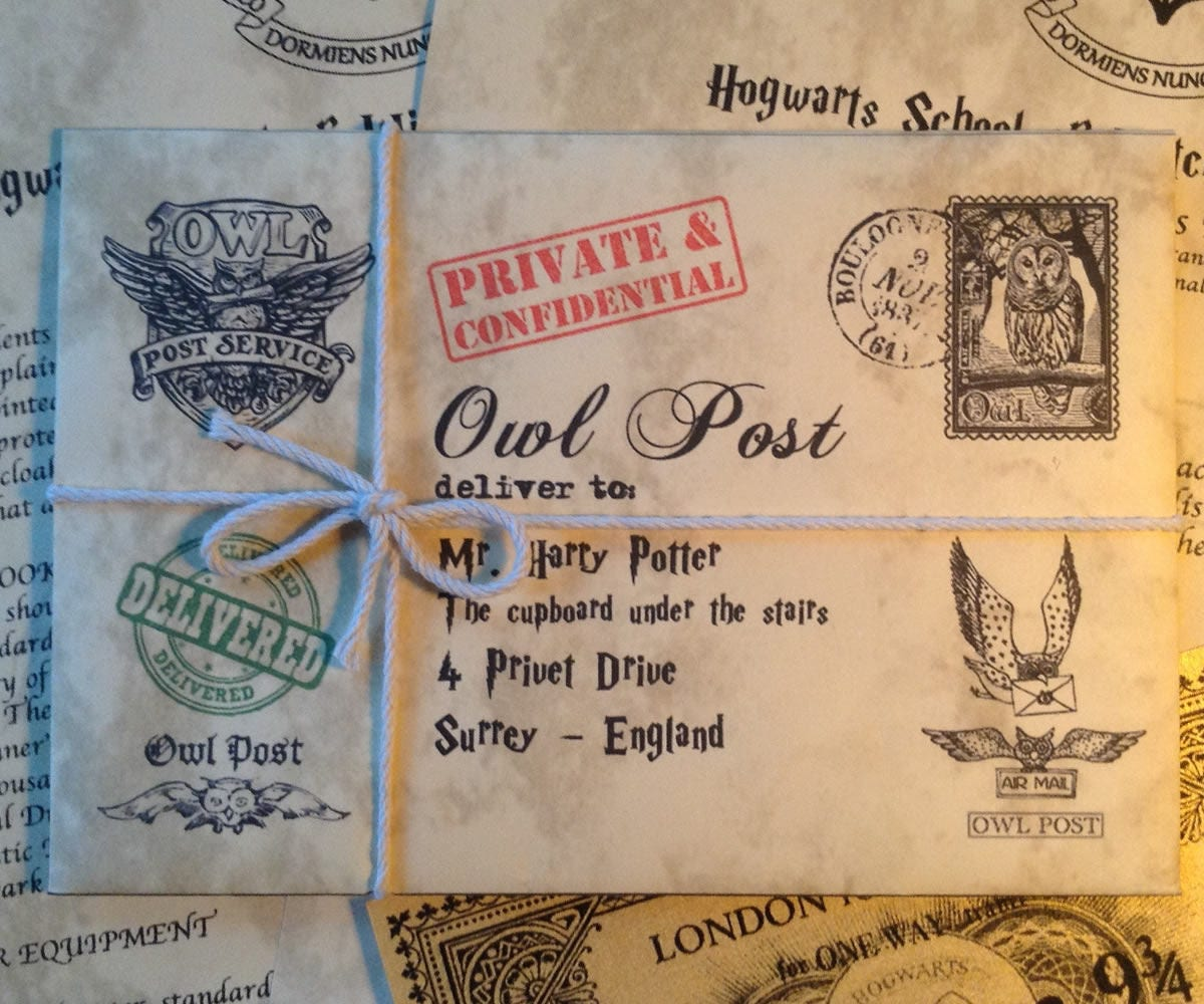 15 Harry Potter Gift Ideas For True Potterheads: Personalized Hogwarts Acceptance Letter Personalized Harry