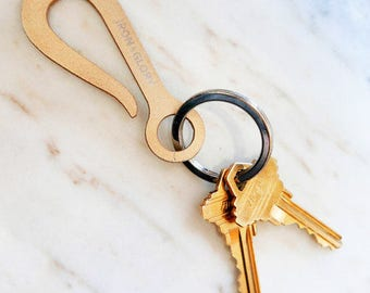 Keyhook Keychain, Gold