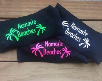 Namaste Headbands, Black Headbands, Sweatbands, Headbands for Men, Headbands for Women, Headbands for Fitness, Running, Yoga, Marathon