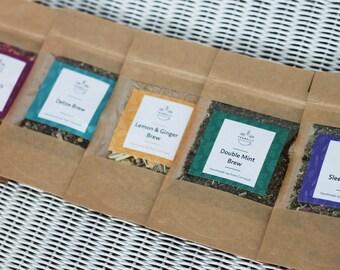 Tea Taster Selection Box + Infuser teabelly Organic Artisan Herbal Tea