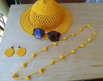 Summer crochet Hat ladies hat, handmade hat, Yellow Hat, original gift, colors