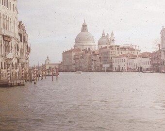 Venice Vintage Photography, Vintage Grand Canal Print, Venice Fine Art Photography, square print