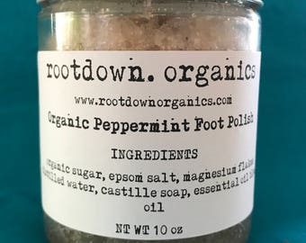 Organic Peppermint Foot Polish - 10 oz