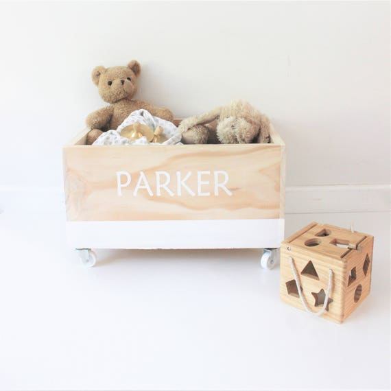 Toy box personalized custom toybox wood wooden toys storage like this item negle