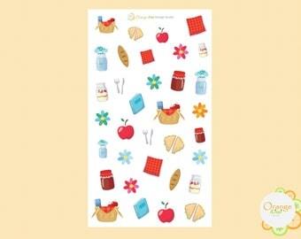 Picnic Stickers, Picnic Planner Stickers, Summer Stickers, Erin Condren Life Planner
