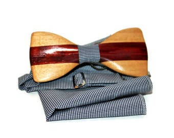 Handmade Wooden bow Tie Wood bow tie Bowtie Wood bowtie Wood tie Wooden tie Wooden gift